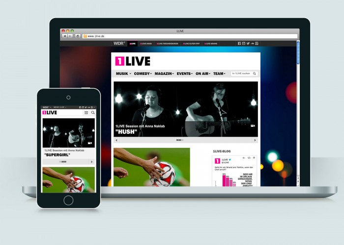 1LIVE Webseite