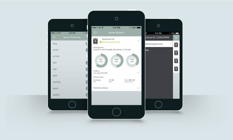 Mobile Server Manager Web App Html5 Ios Android